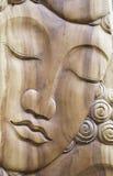Wooden Buddha Face Stock Photos