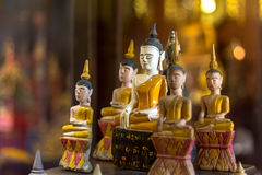 Wooden buddha image Royalty Free Stock Images