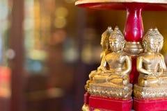 Wooden buddha image Stock Image