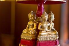 Wooden buddha image Stock Photography