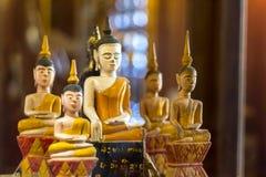 Wooden buddha image Royalty Free Stock Image