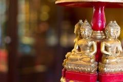 Wooden buddha image Royalty Free Stock Photos