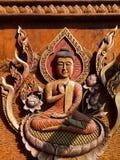 Wooden Buddha Images Royalty Free Stock Photo