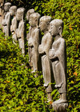 Wooden buddha images Stock Photography