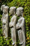 Wooden buddha images Stock Image