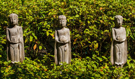 Wooden buddha images Royalty Free Stock Photo