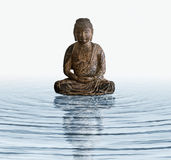 Wooden Buddha In Water Royalty Free Stock Images