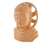 Wooden Buddha Sculpture - Left Royalty Free Stock Image