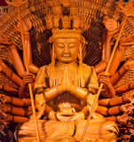 Wooden buddha statue Royalty Free Stock Image