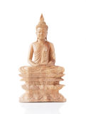 Wooden Buddha Statue Royalty Free Stock Images