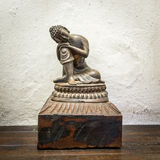 Wooden Buddha statue Stock Images