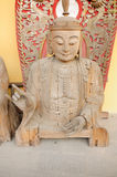 Wooden Buddha Statue Royalty Free Stock Photos
