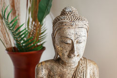 Wooden buddha statue Royalty Free Stock Photos