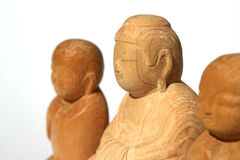 Wooden Buddha statue and Ksitigarbha #3 royalty free stock images