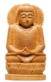 Wooden Buddha Statue from Nepal Stock Photography
