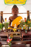 Wooden Buddha Statue  at Wang wiwekaram temple Stock Photo