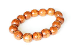 Wooden Buddhist beads Royalty Free Stock Image