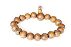 Wooden buddhist beads Stock Photo