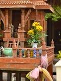 Wooden Buddist altar Stock Photography