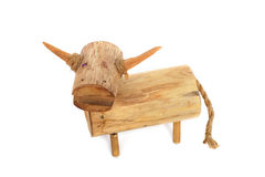 The Wooden Buffalo model Royalty Free Stock Photos
