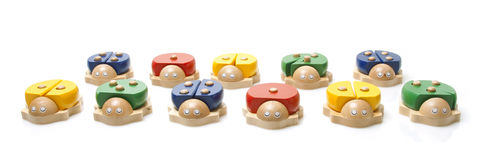 Wooden bugs toys Royalty Free Stock Photos