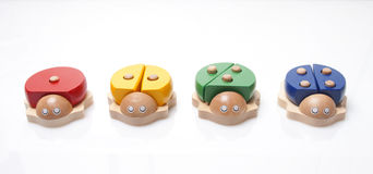 Wooden bugs toys Royalty Free Stock Photography