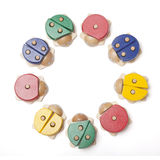 Wooden bugs toys Stock Image