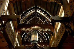 Wooden building. Wooden ceiling part of one old museum Royalty Free Stock Images