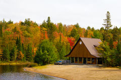 Wooden building in Algonquin Park Stock Image