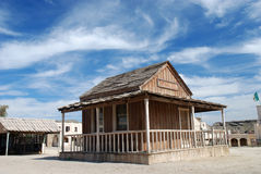 Wooden building in American town Stock Image