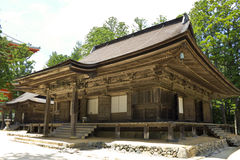 Wooden building associated with temple on K�ya Royalty Free Stock Images