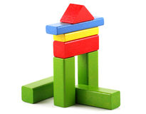 Wooden building blocks Stock Images