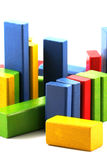 Wooden building blocks Stock Image