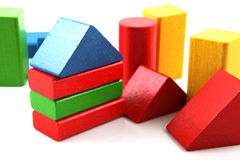 Wooden building blocks royalty free stock image