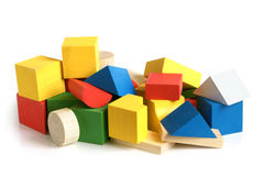 Wooden building blocks Royalty Free Stock Photos