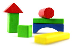 Wooden building blocks Stock Photos