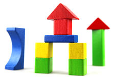 Wooden building blocks Stock Photo