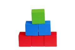 Wooden building blocks Stock Images
