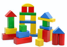 Wooden building blocks Royalty Free Stock Photo