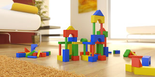 Wooden building blocks stock photography
