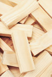 Wooden building blocks background Royalty Free Stock Images