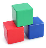 Wooden building blocks. Stock Photography