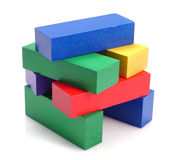 Wooden building blocks. Royalty Free Stock Photography
