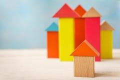 Wooden building blocks Royalty Free Stock Image