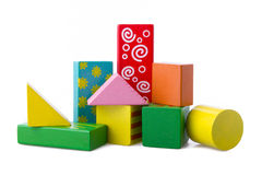 Wooden building blocks Stock Image