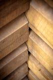 Wooden building corner Stock Image