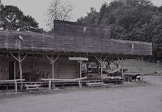 Cowboy house imitation. It is wooden building and it is imitation old wooden cowboy house Stock Photos