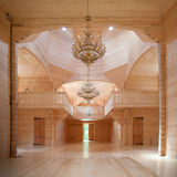 Wooden building interior Royalty Free Stock Photo