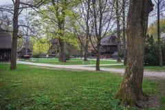 Museum in Roznov pod Radhostem. Wooden building from Wallachia region in a park in Roznov pod Radhostem, small town in Czech Republic stock images