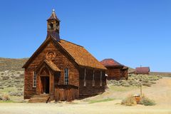 Methodist Church in Bodie State Historic Site, California royalty free stock photos